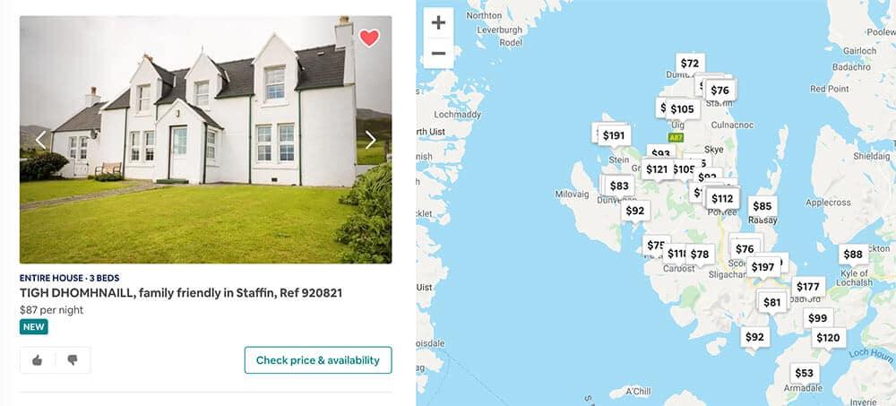 Lista de deseos del itinerario escocés Isla de Skye de Airbnb