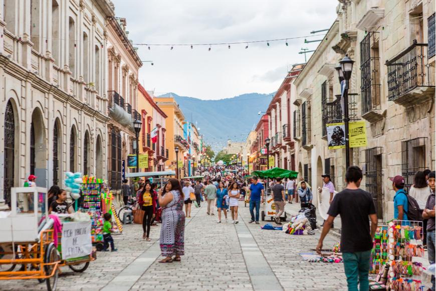 Oaxaca City Street, México.