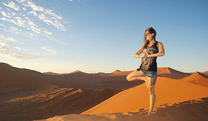 Kristin Addis en Namibia