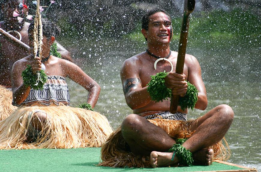 Intérprete en el Centro Cultural Polinesio