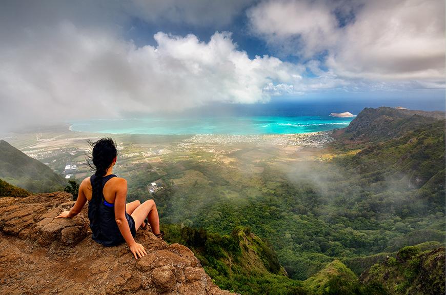 Caminata por la montaña en Oahu