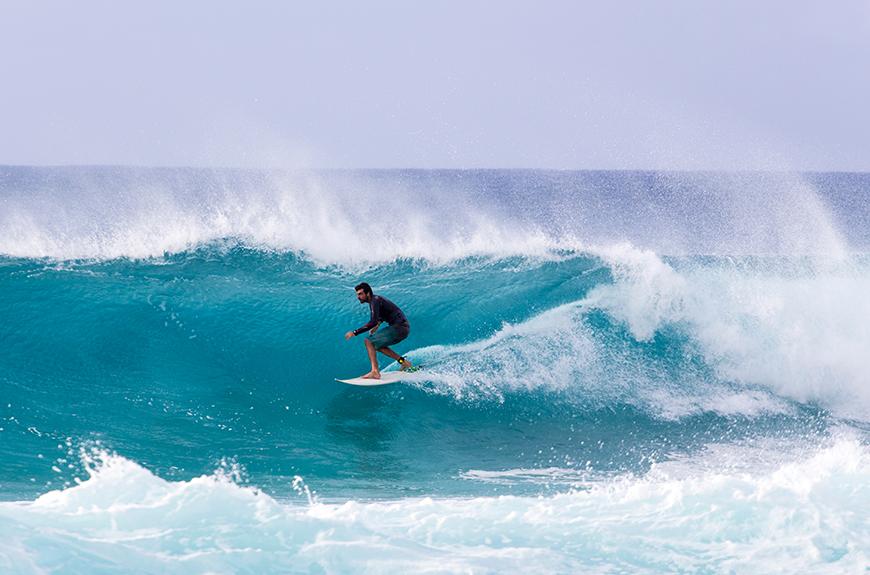 surfista costa norte oahu