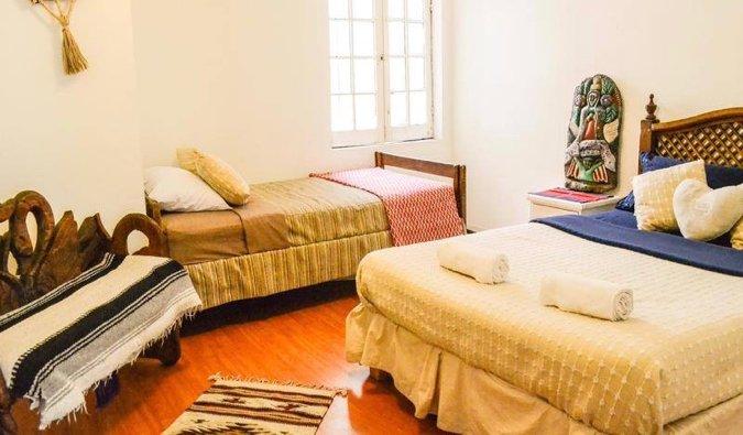 una de las habitaciones en Hostel Home, Ciudad de México