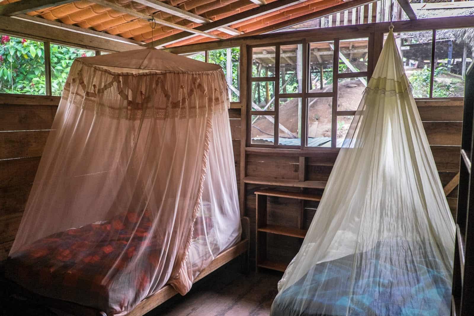 Ecuador Amazon habitación en el albergue