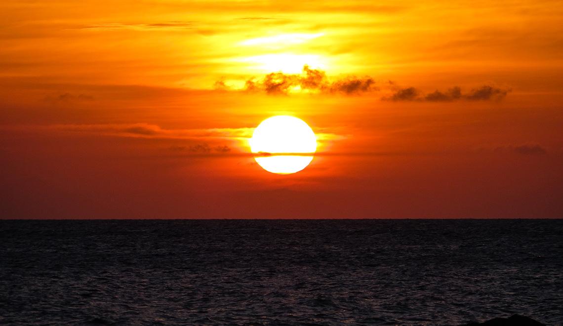 Las puestas de sol del Caribe nunca envejecen