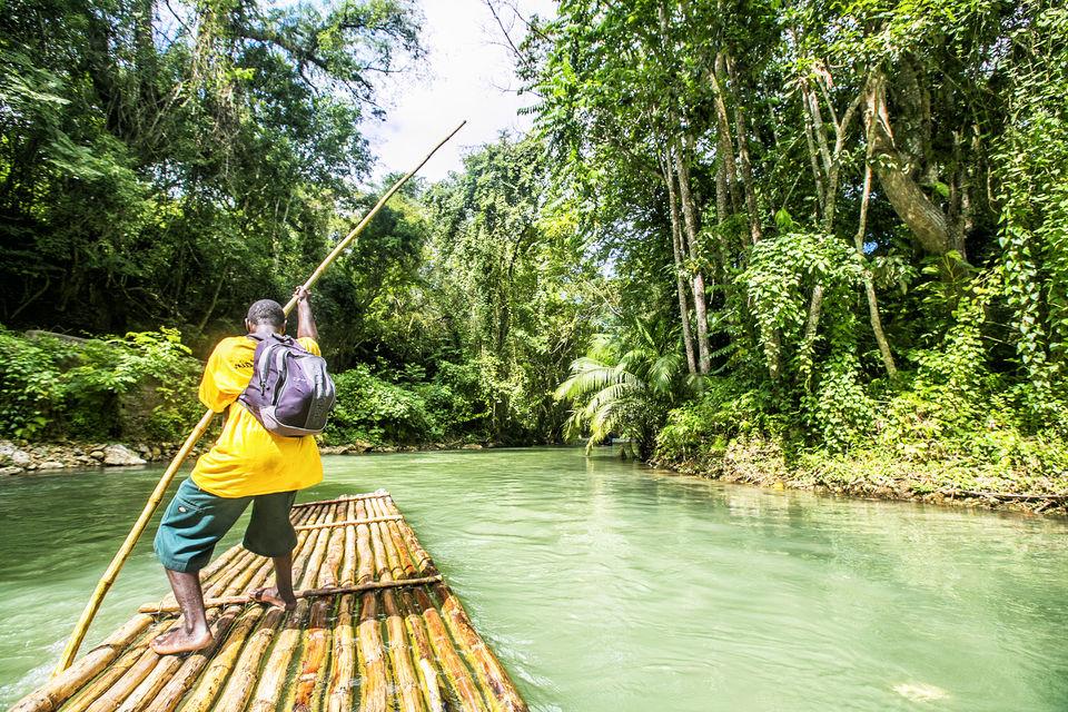 Rafting en el río Martha Brae
