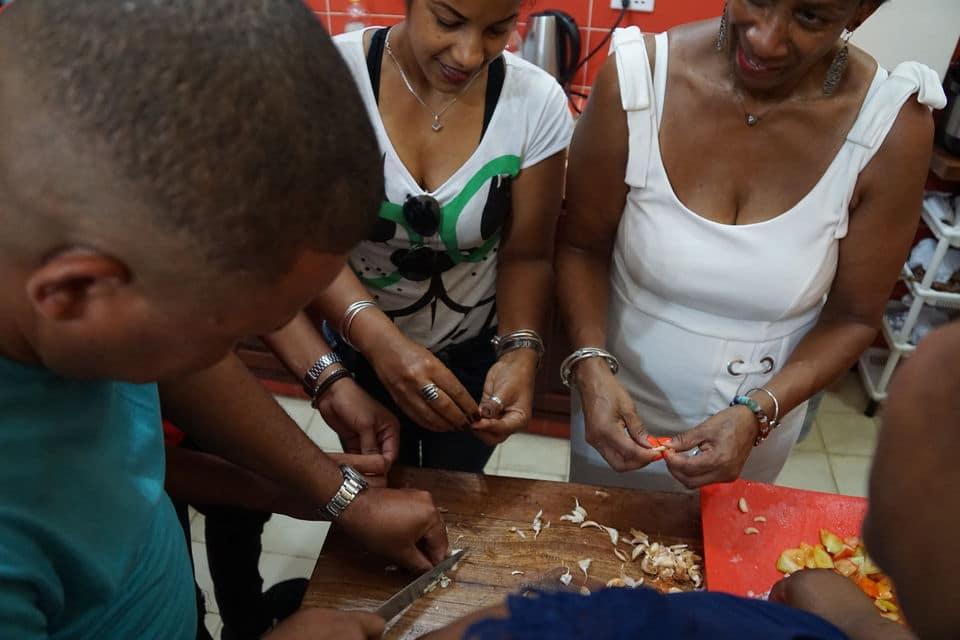 Experiencia de cocina cubana privada