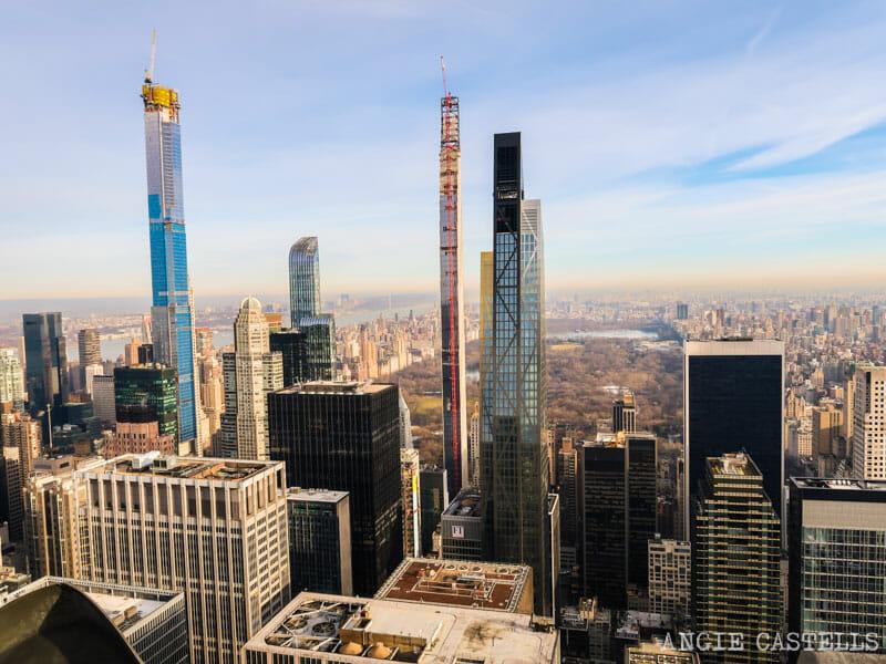 El edificio de & # 39; Central Park desde el top de las Rocas