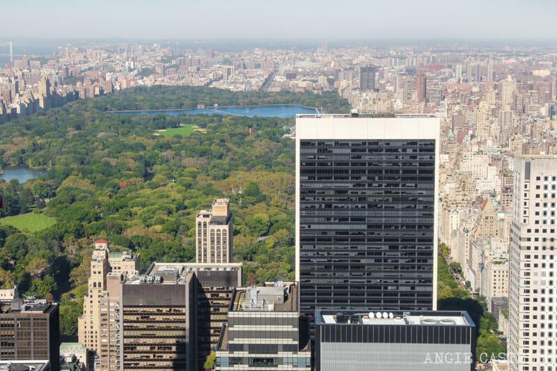 Observatorio encima de la tapa-de-la-roca-centro de Nueva York Parque