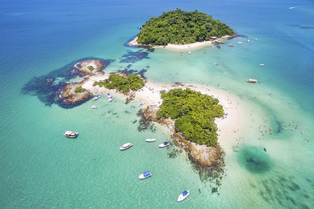 Isla Cataguases en Angra dos Reis, Río de Janeiro, Brasil.