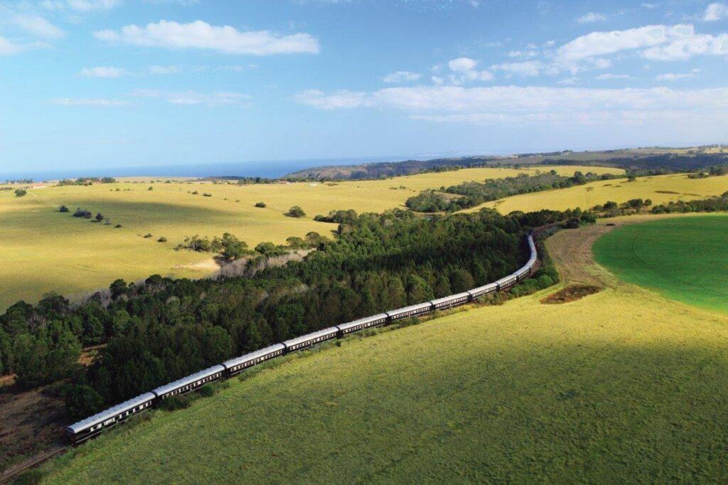Tren en un viaje a Sudáfrica