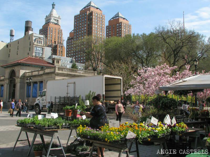 Primavera en Nueva York para hacer el mercado de Union Square