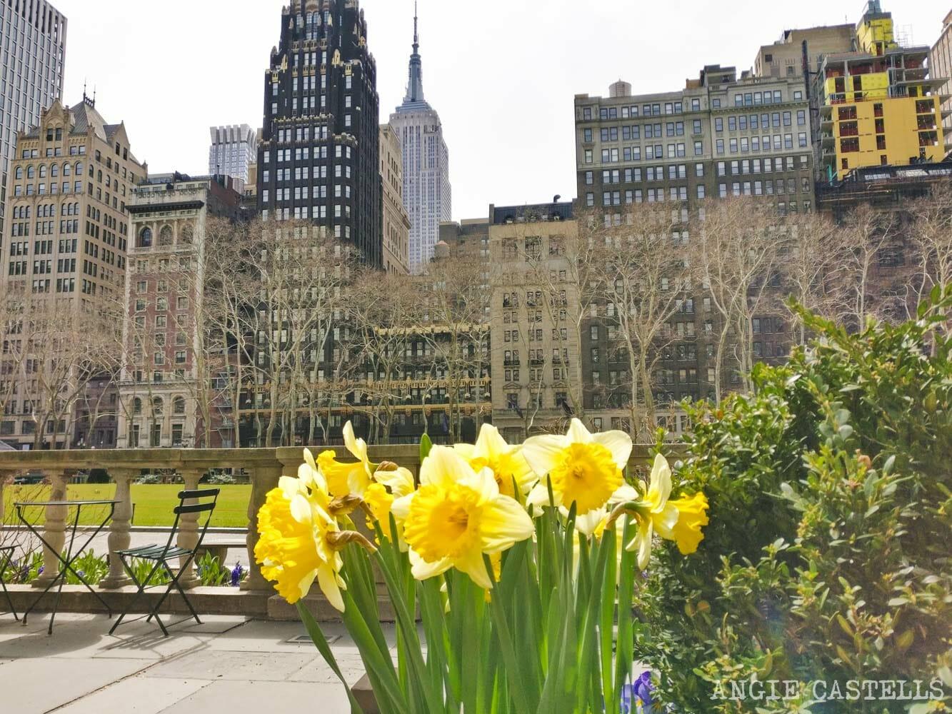 S & # 39; lo hace en la primavera en Nueva York - Bryant Park