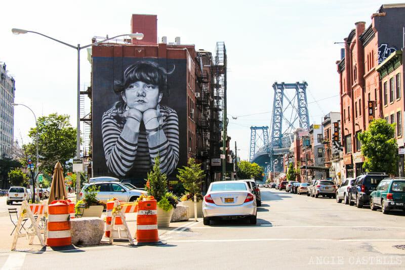 Williamsburg, de Brooklyn - Arte Urbano y Mural de la Mona Lisa
