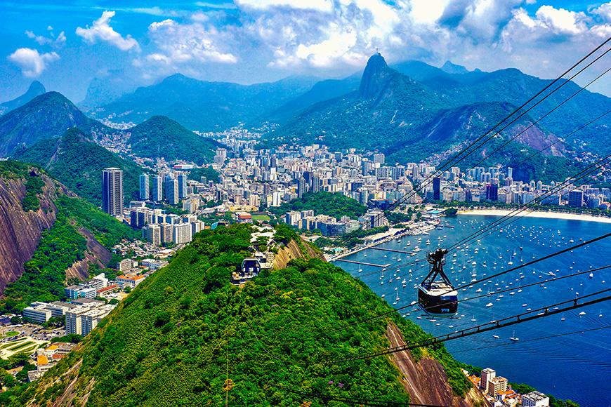 Tranvía Castillo brasileño de Río de Janeiro