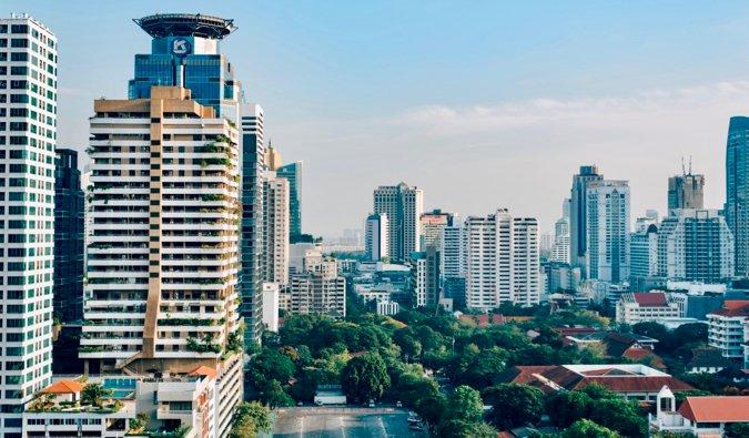 Horizonte de Bangkok en Tailandia