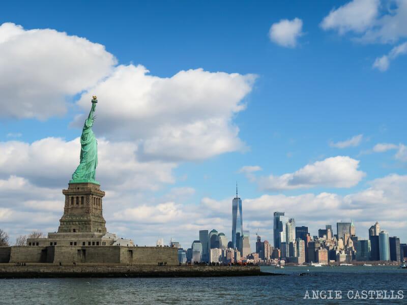 Las vistas desde el ferry de & # 39; la estatua de la Libertad