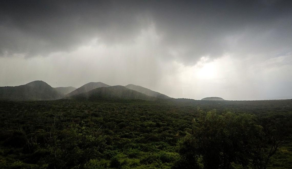 el clima Kurakao en la temporada de lluvias