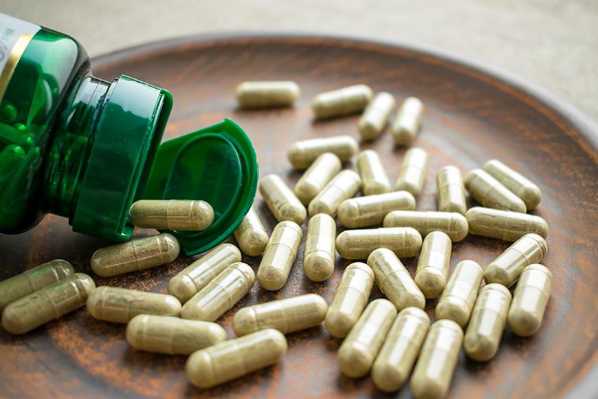 Vitaminas de suplementos herbales